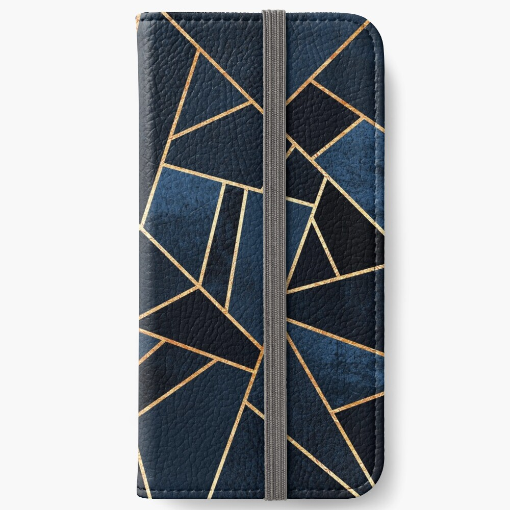 Navy Stone iPhone Wallet