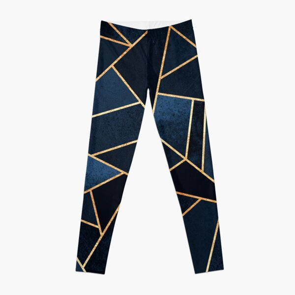 Navy Stone Leggings