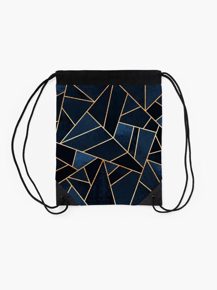 Alternate view of Navy Stone Drawstring Bag