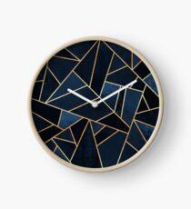 Navy Stone Clock