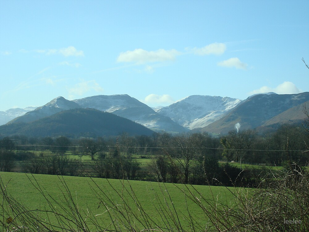 Snow capped mountains by leelee
