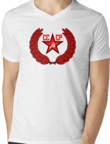 Russian Soviet Red CCCP (Clean) Mens V-Neck T-Shirt