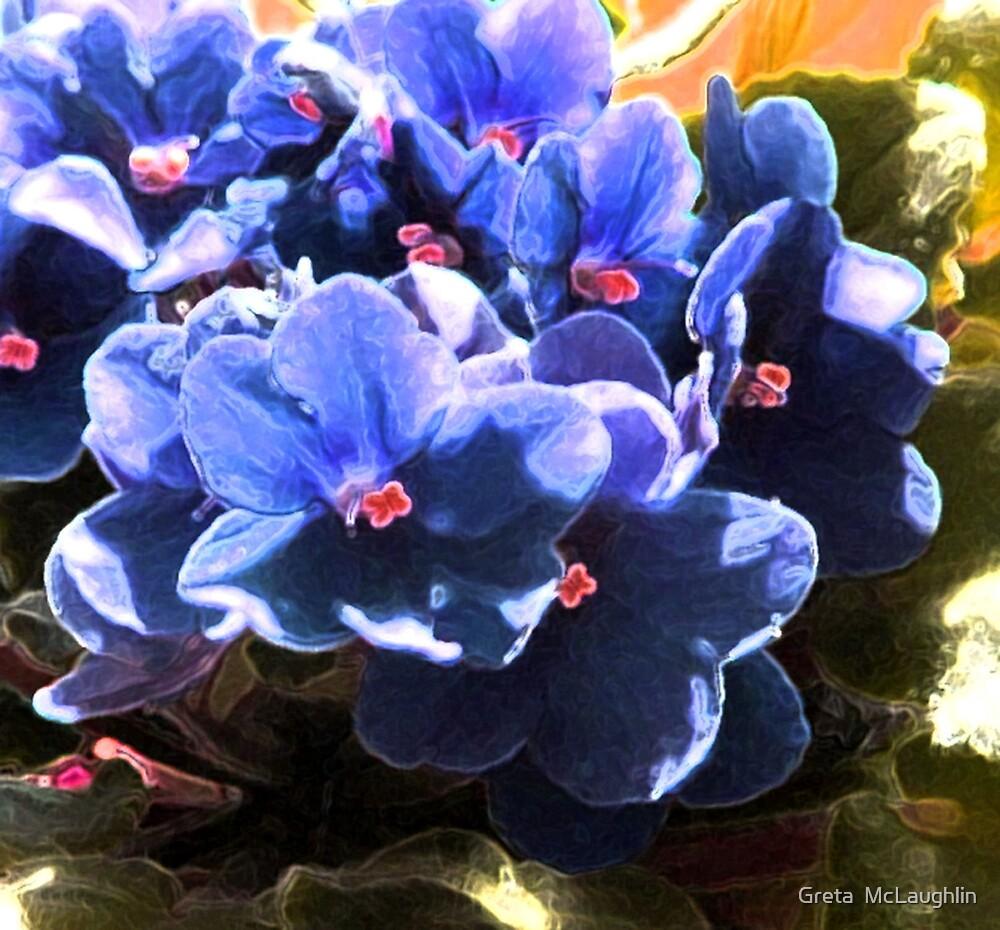 Violets by Greta  McLaughlin
