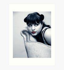 Vintage model Art Print