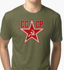 Russian Soviet Red Star CCCP Tri-blend T-Shirt