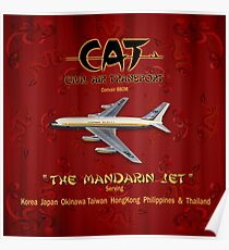 CONVAIR 880 CAT CIVIL AIR TRANSPORT Poster