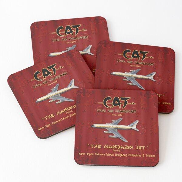 CONVAIR 880 CAT CIVIL AIR TRANSPORT Coasters (Set of 4)