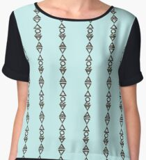 EARTH, AIR, SKY, WATER, SPIRIT V  - alchemy sea grunge Chiffon Top
