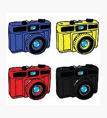 Primary Colors Retro Cameras Photographic Print