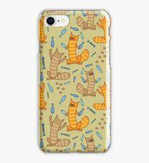 Cat juggling fish iPhone Case/Skin