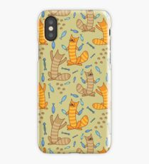 Cat juggling fish iPhone Case/Skin