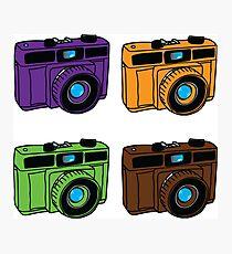Secondary Colors Retro Cameras Photographic Print