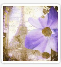 Purple Paris I Sticker