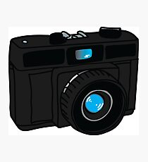 Black Retro Camera Photographic Print