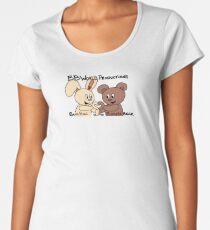 Boopie Bear & Bun Bun Paw Heart Women's Premium T-Shirt