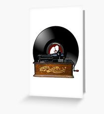 Old Phonograph Records Greeting Card