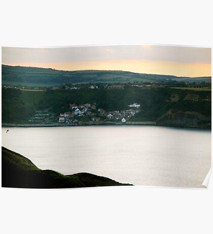 Runswick Bay, from Kettleness Cliffs Poster