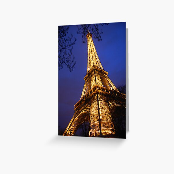 Eifel Tower at dusk Greeting Card