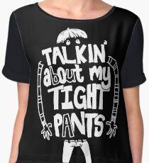Tight Pants - white Women's Chiffon Top