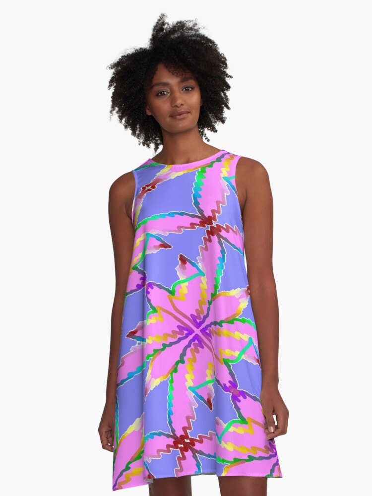 Butterfly Blooms A-Line Dress Front