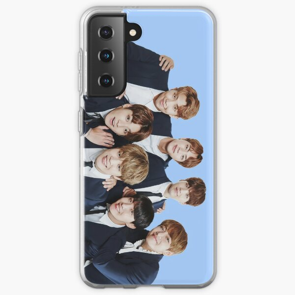 BTS Kpop - Azul Funda blanda para Samsung Galaxy