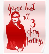 All 3 of my feelings (red) Poster