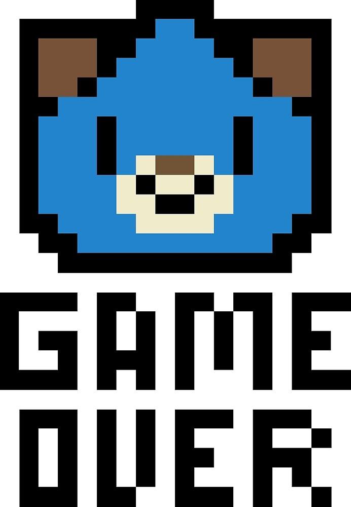 Game Over Hyperdimension Neptunia Dogoo Pixel Art by Delu Xion