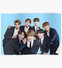 BTS Kpop - Blue Poster