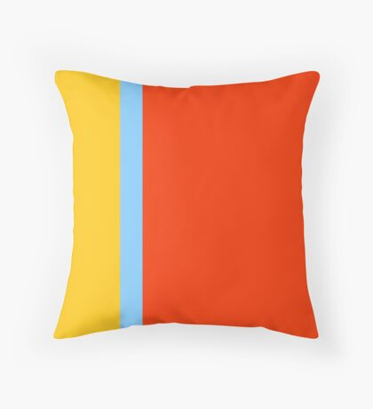 grainy golden yellow, nationwide sky, asserted orangish red Throw Pillow