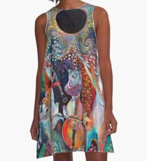 Solar Eclipse Sonata Quartet A-Line Dress