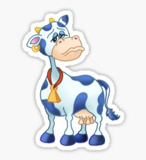Moody Monday Cow Sticker