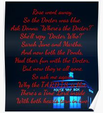 Doctor Who Poem Poster