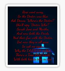 Doctor Who Poem Sticker