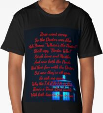 Doctor Who Poem Long T-Shirt