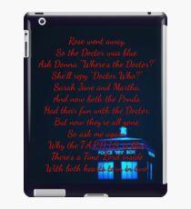 Doctor Who Poem iPad Case/Skin