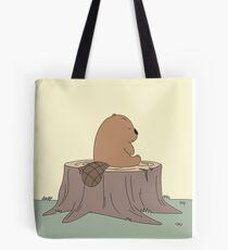 Sad Beaver Tote Bag
