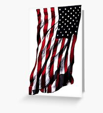 USA Stars and Stripes Greeting Card