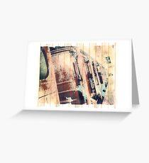 Polaroid Transfer - 3rd Class Travel Greeting Card