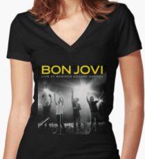 JOVI BON LIVE 2017 URANG Women's Fitted V-Neck T-Shirt