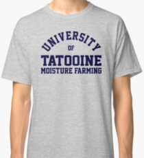 (Completely Unofficial) - Star Wars inspired - University of Tatooine Moisture Farming Classic T-Shirt
