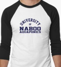 (Completely Unofficial) -  Star Wars Inspired - University of Naboo Aquaponics Men's Baseball ¾ T-Shirt