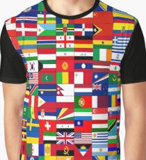WORLD FLAGS Graphic T-Shirt
