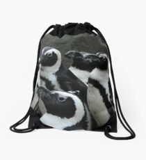African Black-footed Penguin Drawstring Bag