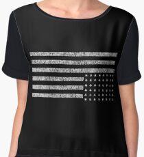 Upside-down US Flag Chiffon Top
