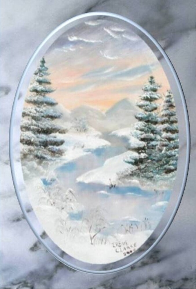 Wintery Landscape by Irene Clarke