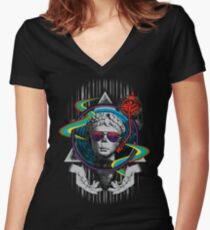 Music is Classic Women's Fitted V-Neck T-Shirt