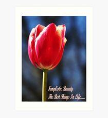 Simplistic Beauty Art Print