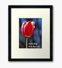 Simplistic Beauty Framed Print