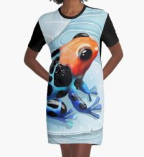 Poison Dart Frog  Graphic T-Shirt Dress