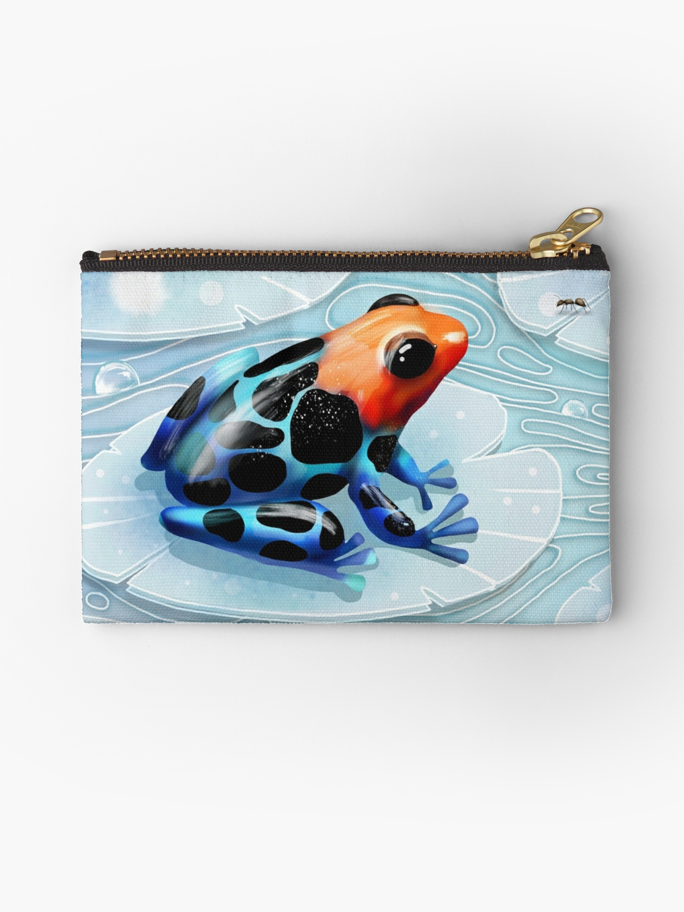 Poison dart frog studio pouches by karin taylor redbubble for Frog studio